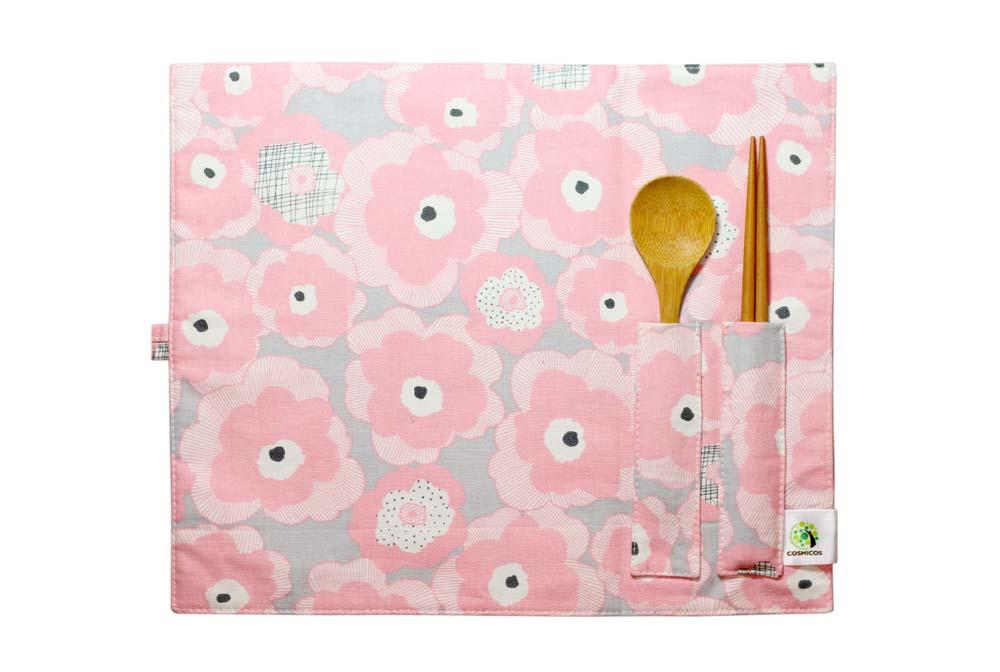 紅粉佳人-餐墊&餐具袋(兩用)
